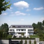 Blick vom Weinbergweg auf unser Haus